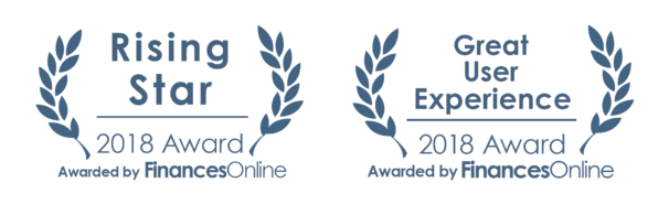 Rising Star and Great User Experience award to docupilot by Finances Online